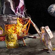 Astronaut - One Small Step Art Print