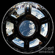 Astronauts View From The Space Station Art Print