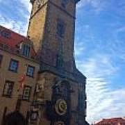 Astronomical Clock Of Prague Art Print