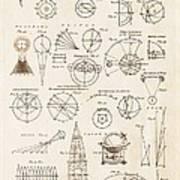 Astronomy Diagrams Art Print