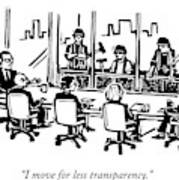 At A Corporate Board Meeting Art Print