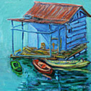 At Boat House Art Print