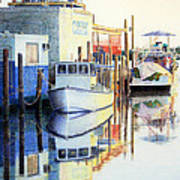 At Cortez Docks Art Print
