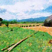 At Ethiopian Village Painting Art Print