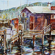 At Monterey Wharf Ca Art Print