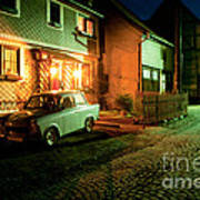 At Night In Thuringia Village Germany Art Print