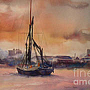 At Rest On The Thames London Art Print