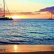 At Sea Sunset Art Print