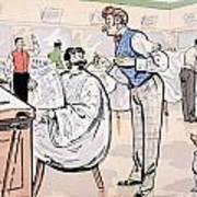 At The Barber And Reading Le Jockey Art Print