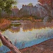 At The Bend On The Ocklawaha  Art Print