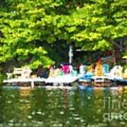 At The Cottage Dock Art Print