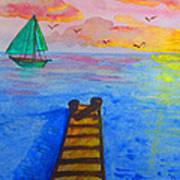 At The Dock Art Print by Haleema Nuredeen