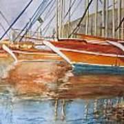 At The Dock Art Print