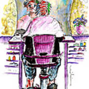 At The Hairdresser Art Print
