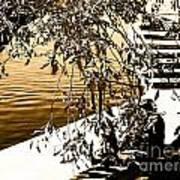 At The Lake-44 Art Print