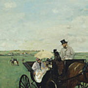 At The Races In The Countryside Art Print