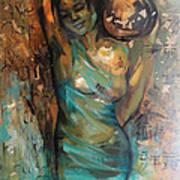At The Spring Art Print by Nelya Shenklyarska