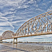 Atchafalaya River Bridge Art Print