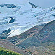 Athabasca Glacier Along Icefields Parkway In Alberta Art Print