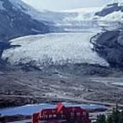 1m3734-athabasca Glacier W Original Icefields Chalet Art Print