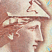 Athena On Banknote Art Print