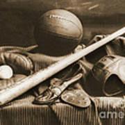Athletic Equipment 1940 Art Print