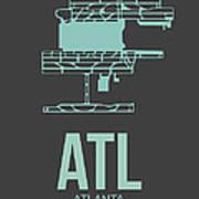 Atl Atlanta Airport Poster 2 Art Print by Naxart Studio