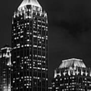 Atlanta At Night  Art Print