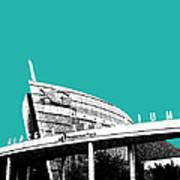 Atlanta Georgia Aquarium - Teal Green Art Print