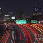 Atlanta Interstae 85 Night Art Print