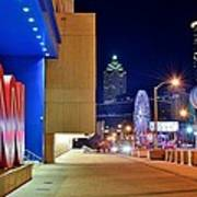 Atlanta Outside Cnn Art Print