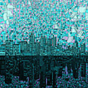 Atlanta Skyline Abstract 2 Art Print