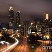 Atlanta Skyline At Dusk Art Print