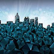 Atlanta Skyline Geometry 3 Art Print