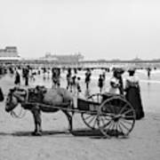 Atlantic City Beach, C1901 Art Print