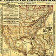 Atlantic Coast Line Railway Map 1885 Art Print