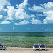 Atlantic Ocean At Smathers Beach In Key Art Print