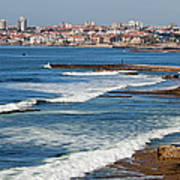 Atlantic Ocean Coast In Cascais And Estoril Art Print