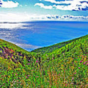 Atlantic Ocean View Point From Cape Breton Highlands National Park-nova Scotia Art Print