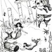 Atlantis Mermaids Art Print