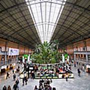 Atocha Railway Station Interior In Madrid Art Print