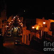 Atop Calle Hostos At Night Horizontal Art Print