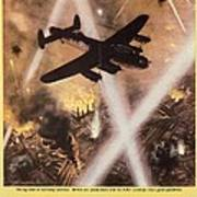 Attack Begins In Factory Propaganda Poster From World War II Art Print