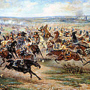 Attack Of The Horse Regiment Art Print by Victor Mazurovsky