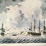 Attack On Fort Mifflin, 1777 Art Print