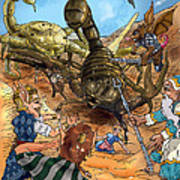 Attacked By Scorpions Art Print
