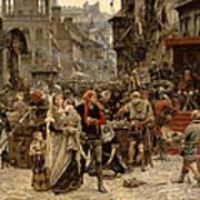 Atterdag Holding Visby To Ransom 1361 Art Print