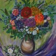 Atumn Flowers Art Print