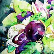 Aubergine Mirage Art Print