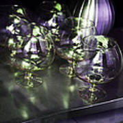 Aubergine Paris Wine Glasses Art Print